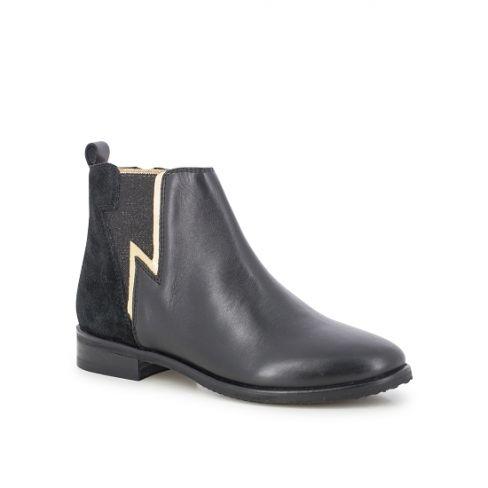 Ces bottines pour adolescentes sont idéales pour l'hiver, le style est sobre et la touche de brillant rajoute du peps pour contraster avec le noir